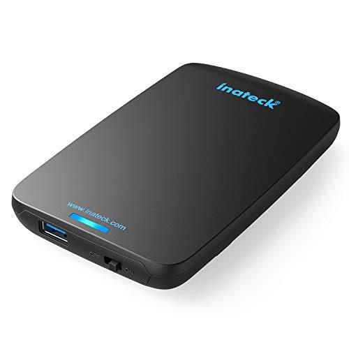 Inateck USB 3.0 Externes Festplattengehäuse für 9.5mm 7mm SATA HDD SSD Festplatten 2,5 Zoll, UASP und SATA3 kompatibel