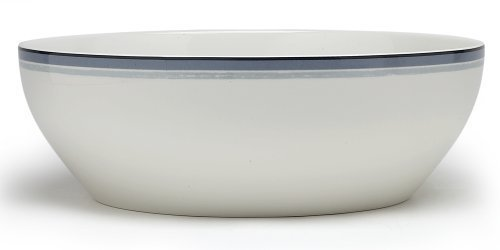 Noritake Java-graphit (Noritake Java Graphite Swirl Round Vegetable Bowl, 9-3/4-inches, 96-ounces by Noritake)