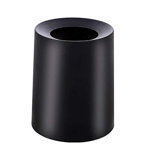 JUNGEN Bote de Basura plastico Cubo de Basura Redondo de Color Liso con Diseño de Doble Capa Papelera...