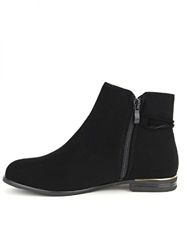Cendriyon, Bottine feutrine Black CINK Chaussures Femme Noir