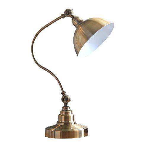 Doppel Rotierende Tischlampe Eisen E27 Einstellbare Dekoration Retro Amerikanischen Land Einfache Moderne Ornamente Kreative Schlafzimmer Nacht Studie Büro 43 * 48 cm MUMUJIN