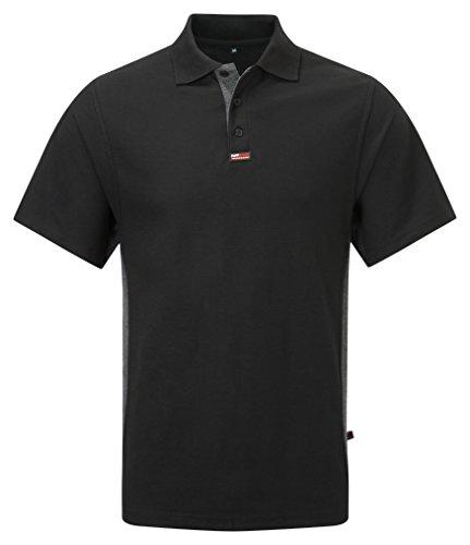 TuffStuff 134TS Poloshirt, kurze Ärmel, schwarz, 134 (Baumwoll-rugby-kurz)