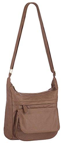Eyecatch - Dita Damen Schulter Tasche Frauen Faux Leder Handtasche Bräune
