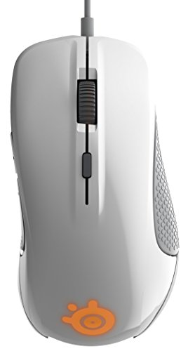 STEELSERIES RIVAL 300   RATON OPTICO DE JUEGO  ILUMINACION RGB  6 BOTONES  LATERALES DE CAUCHO  GESTION DE SOFTWARE  (PC / MAC)  BLANCO