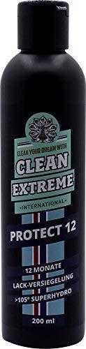 CLEANEXTREME Protect 12 Auto Lackversiegelung 200 ml - Silikonölfreie Versiegelung für Autolack, Autofolie, Gelcoat, GFK. Bis zu 12 Monate Schutz durch Versiegeln