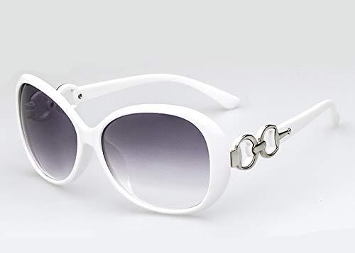 GUOTAIEUP Klassische Sonnenbrille Eyewear Eyeglasses Retro Vintage Womens Fashion Übergroße Sonnenbrille Shades Klassische Brillen Damen Sonnenbrille Markendesigner Brillen Uv400Weiß