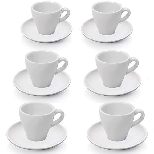 Gastro Spirit - 12 teiliges Espresso-Tassen/Mokka-Tassen Set - Weiß, 90 ml, Porzellan, dickwandig, spülmaschinenfest, Gastronomie-Qualität