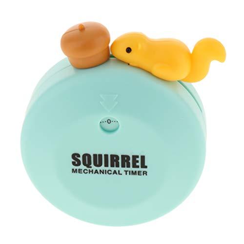 F Fityle Tier Form Mechanischer Küchentimer Zeitmesser Eieruhr mit Magnetischer Kochuhr Kurzzeitmesser - Eichhörnchen