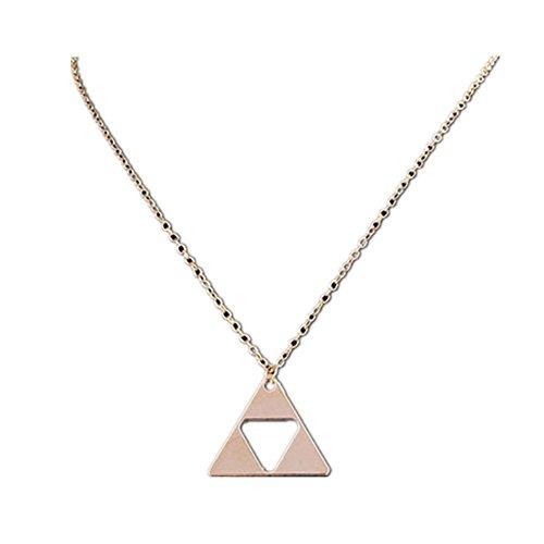 Sunnywill Frauen Dreieck-Legende von Zelda Triforce Kostüm Metall Anhänger Halskette für Damen Mädchen (Kostüme Neue Paare)