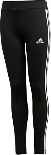 adidas Mädchen YG TR EQ 3S L T Pants, Black/White, 13-14 Years