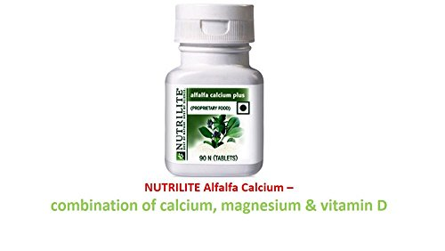 NUTRILITE AMWAY Alfalfa Calcium Plus CAL MAG D 25% EXTRA TOTAL 113 TABS...........CALCIUM IS FOUNDATION FOR STRONG, BONES Healthy bones are essential for you to achieve a life filled with enjoyment, activity. Bones are complex living tissue. They provide structure and support for your muscles, protect your organs and store 99 percent of the calcium used by the soft tissues of your body for their various functions.  available at amazon for Rs.825