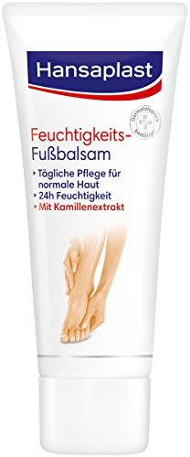 Hansaplast Feuchtigkeitsspendender Fußbalsam 4er Pack (75 ml), für die tägliche Fußpflege trockener Haut, Fußcreme für geschmeidige und schöne Füße