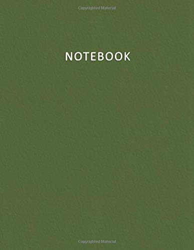 Plain Olive (Notebook: Lined - Unruled - Plain - blank Notebook - 100 pages numbered - Fashion and Modern Green Olive Military Color - A4/Letter Size - Diary, Journal, Composition Book, doodles)