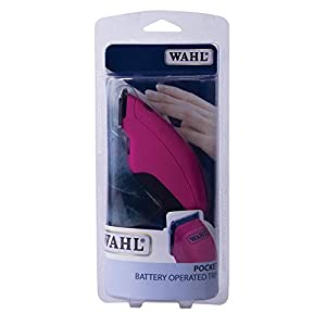 Wahl Dog Clipper Pocket Pro Trimmer for Pets, Trim and Tidy Up Smaller Areas, Battery Powered, Pink