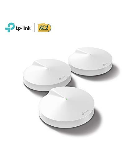TP-LINK Deco Amplificador wifi Super Mesh wifi inteligente sin interrupciones Tri-band AC2200 hasta 600m² Hub Smart IoT,  Zigbee,  2 Gigabit,  MU-MIMO,  con Amazon Alexa(M9-3pack)