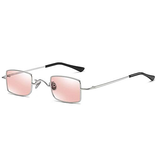 MALLTY Metall Square Mini Box Retro Sonnenbrillen Spezielle Sonnenbrillen für Männer und Frauen (Farbe : Pink)