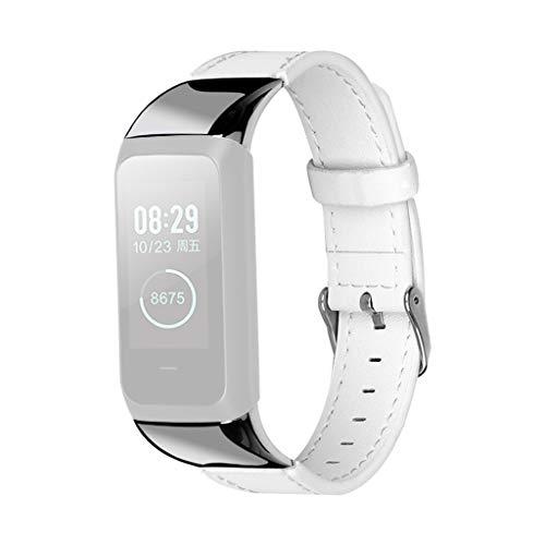 Sansee Uhrenarmbänder Leder Gürtelschnalle Ersatzbänder Armband für Amazfit COR 2 Watch -