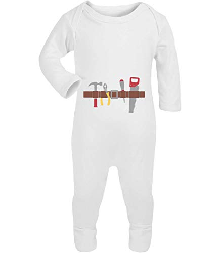 Shirtgeil Handwerker Baby Halloween Kostüm Baby Strampler Strampelanzug 3-6 Monate (62/68) Weiß