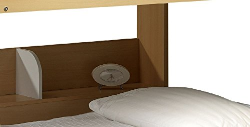 Happy Beds Domino Maple And White Finished Sleep Station Childrens Kids Bunk Bed With 2x Orthopaedic Mattress