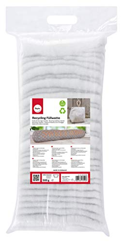 RAYHER 30220000 Ouate de Rembourrage recyclée, en couches - 500 g - Blanc