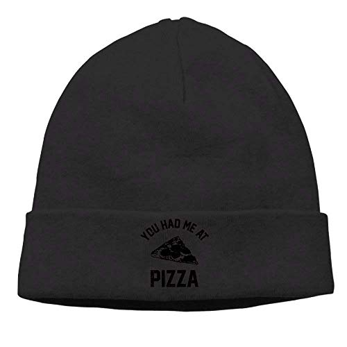 8647e1ac4f153 tgyew Fashion Funny Hat Unisex Beanies Caps You Had Me at Pizza Skull Hats  Soft Hedging