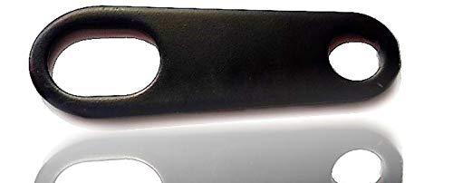 Guardian Bell portafortuna campana supporto nero e lucido senza campana Without Bell, nero, taglia u