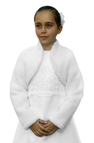 Kommunion-Jacke / Bolero aus Webpelz, Farbe weiß, Größe 146
