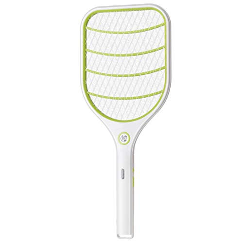 Ovitop Fliegenklatsche Elektrische Mückenklatsche mit mit LED-Beleuchtung mit wiederaufladbarer Lithium-Batterie - Grün