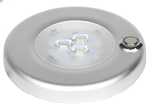 Facon Soporte de superficie LED de 12 V 3 W con interruptor de encendido y apagado regulable para RV/barco/remolque/caravana/furgoneta/autocaravana