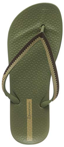 5024e567 Ipanema Women's Anat Lovely Ix Fem Flip Flops, Green/Beige 9120, 7 UK