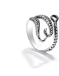 8d487e7c063 Yxaomite Octopus Ring Poulpe Tentacule Bague Ouvert Anneau Punk Bague  Gothique Punk Retro Steampunk Acier Inoxydable