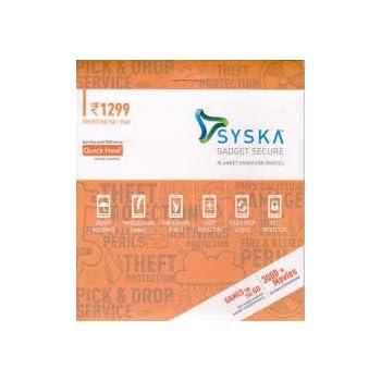 Syska Secure Gadget Plan 1299 (Handset/Tablet Coverage Rs. 15000-24999)