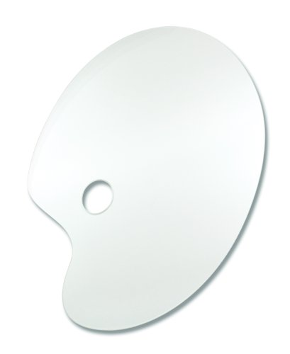 Reeves 8490525 Acrylpalette Oval, 40 x 28 cm