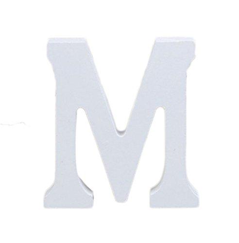 Hosaire Letras Madera Para Decorar Para Boda/Fiesta/Guardería/Decoración de Paredes Color Blanco (M)