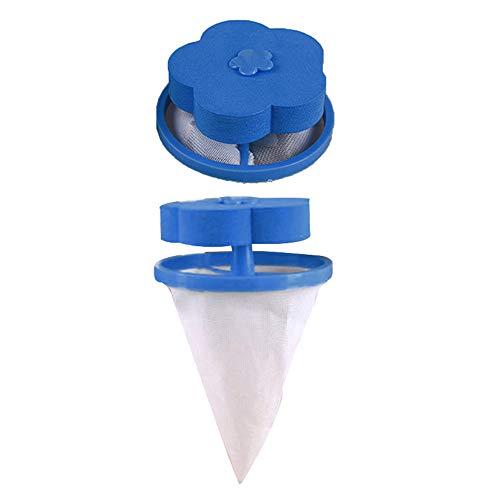TianranRT Zuhause Floating Flusen Haare Catcher Mesh Beutel Waschen Maschine Wäsche Filter Beutel (2PCS)