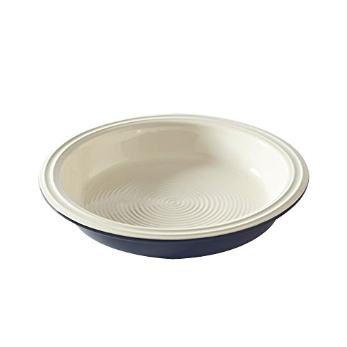 Mason Cash Baker Lane Round Pie Dish, Grey/Cream, 24x24x5 cm