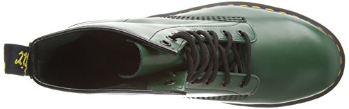 Dr Martens Broken In 1460, Boots mixte adulte Vert(Vert Smooth)