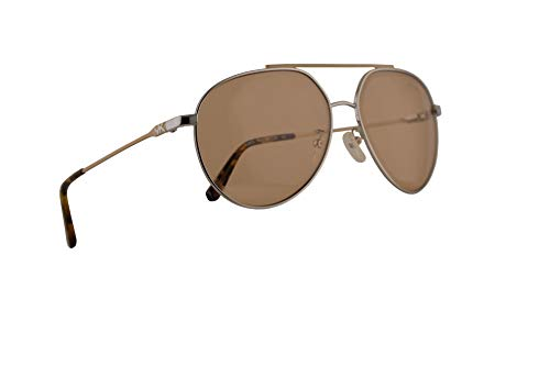 Michael Kors MK1041 Antigua Sunglasses Shiny Silver w/Light Brown Lens 60mm 115373 MK 1041