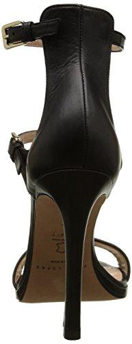 Pura Lopez Ah136, Sandales femme Noir (Baby Nap Negro)