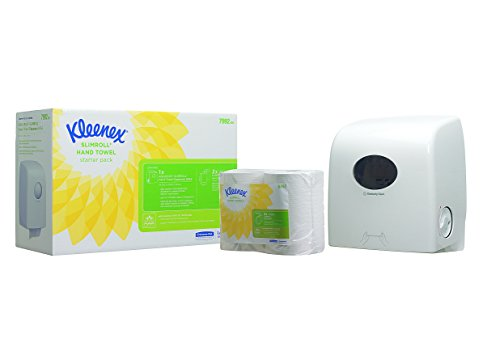 Kleenex Airflex Hand Towel Dispenser Starter Pack (product code 7992) - 1 Dispenser and 2 Slimroll hand towel rolls