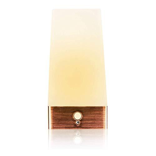 IMIGY Lámpara de mesa LED con sensor de movimiento inalámbrico, alimentado por batería Retro Luz nocturna nocturna Blanco cálido para habitación de niños, Dormitorio, Cabecera, Baño,