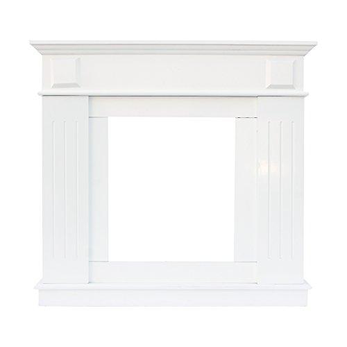 Mobili rebecca® cornice decorativa caminetto decorazione camino legno bianco stile tradizionale soggiorno (cod. re4800)