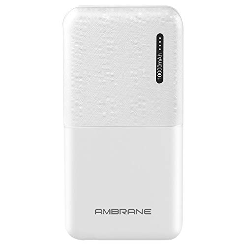 Ambrane 10000mAh Lithium Polymer Power Bank (Capsule-10K, White)