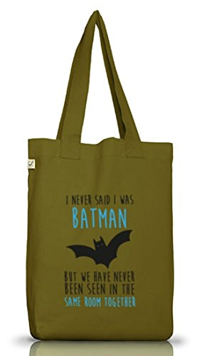Shirtstreet24, I Never Said..., Jutebeutel Stoff Tasche Earth Positive (ONE SIZE) Leaf Green