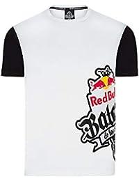 Red Bull Camiseta Batalla de los Gallos Original Ropa de Hombre de Manga  Corta en Blanco b5142675b6c