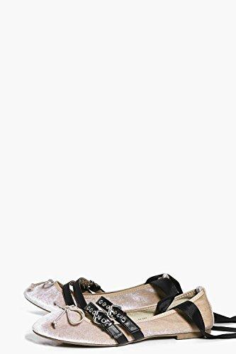 Damen Nackt Alice Ballerinas Mit Mehreren Riemchen Zum Binden Nackt