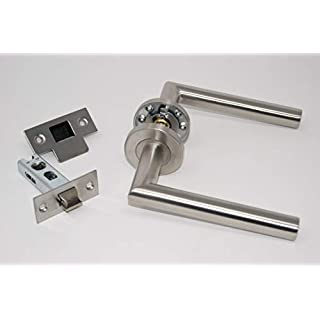 Mitred Door Handle Pack (Internal Latch Set)- Satin Stainless Steel