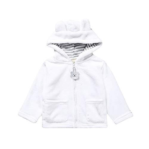 Säugling Baby Warmer Mantel Mädchen Jungen Herbst Winter Cartoon Coat Ohren Kapuzenjacke Reißverschluss Outwear (Junioren Mäntel)
