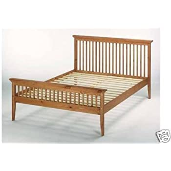 4ft6 135cm double shaker wooden bed frame - Double Bed Frame