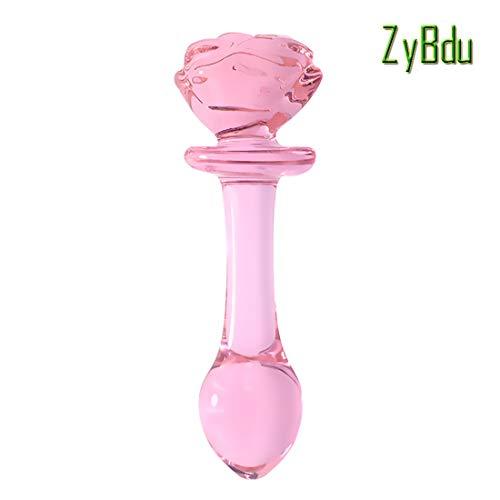 ZyBdu Umweltfreundliches Glas Analplug Den Anus stimulieren Sex-Tool,C